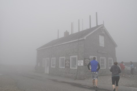 Building chained to the top of Mount Washington.