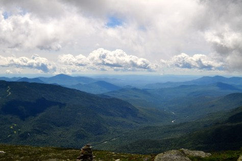 View down the Presidential Range in New Hampshire.