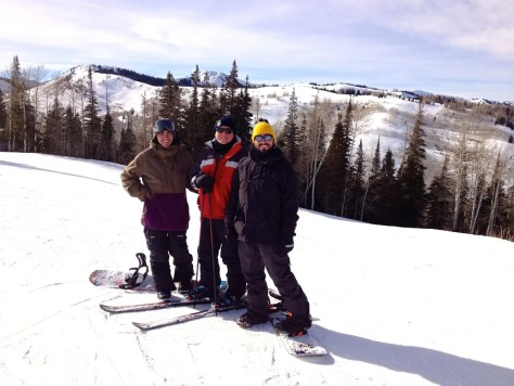 Family ski pic, Brenton, father and myself.