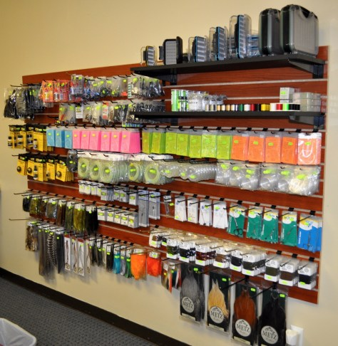 Fly tying supplies, enough to get started on most local patterns.