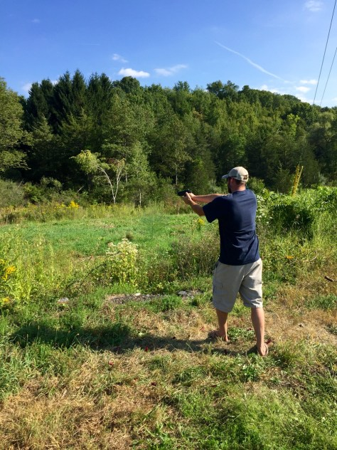 Mark takes aim with the Ruger .357