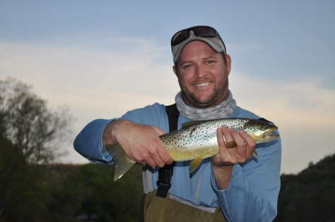 Mark's second fish on a Fly Rod, lucky guy!