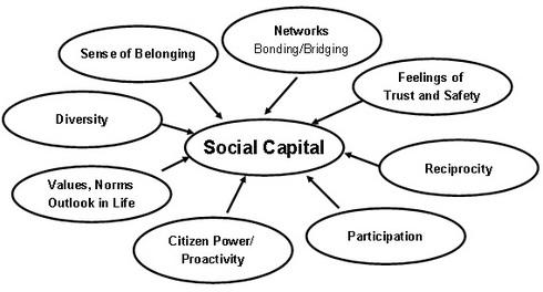 Šema relacija društvenog kapitala. Ilustracija je preuzeta odavde.