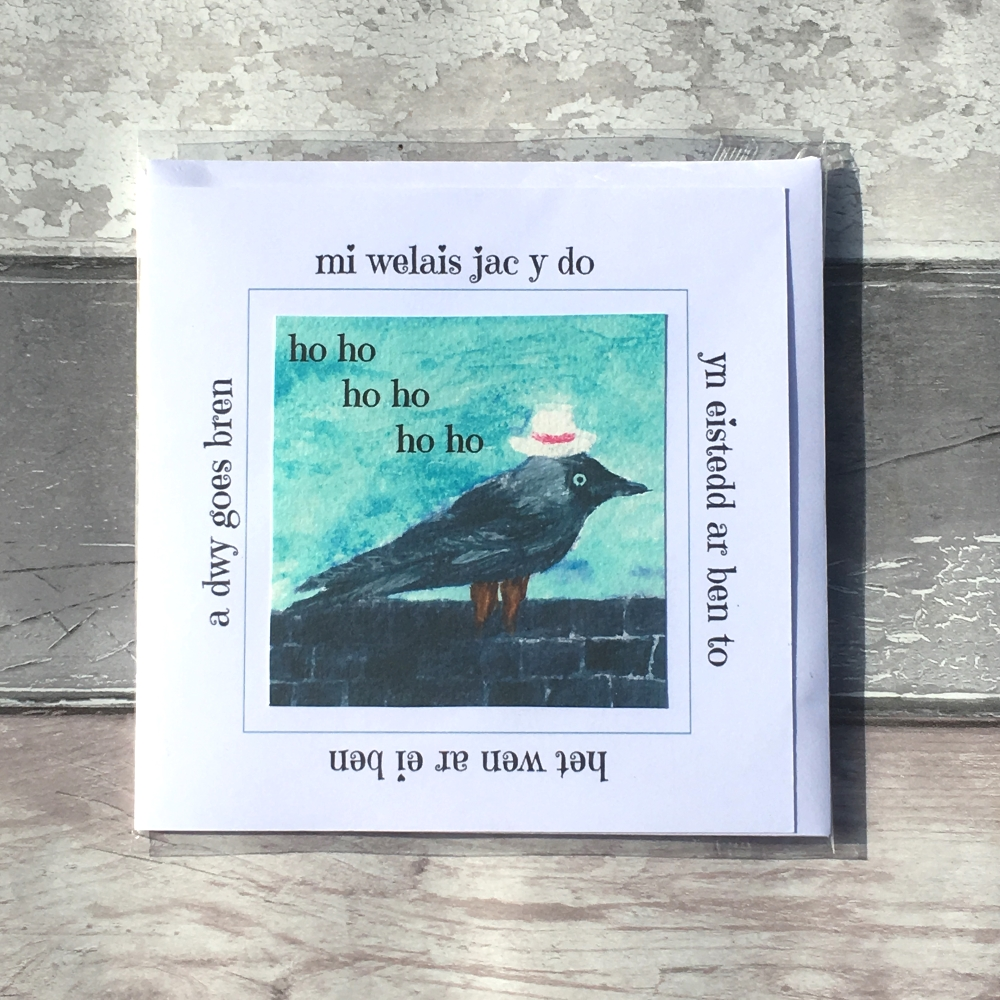 Mi welais jac y do handmade greetings card