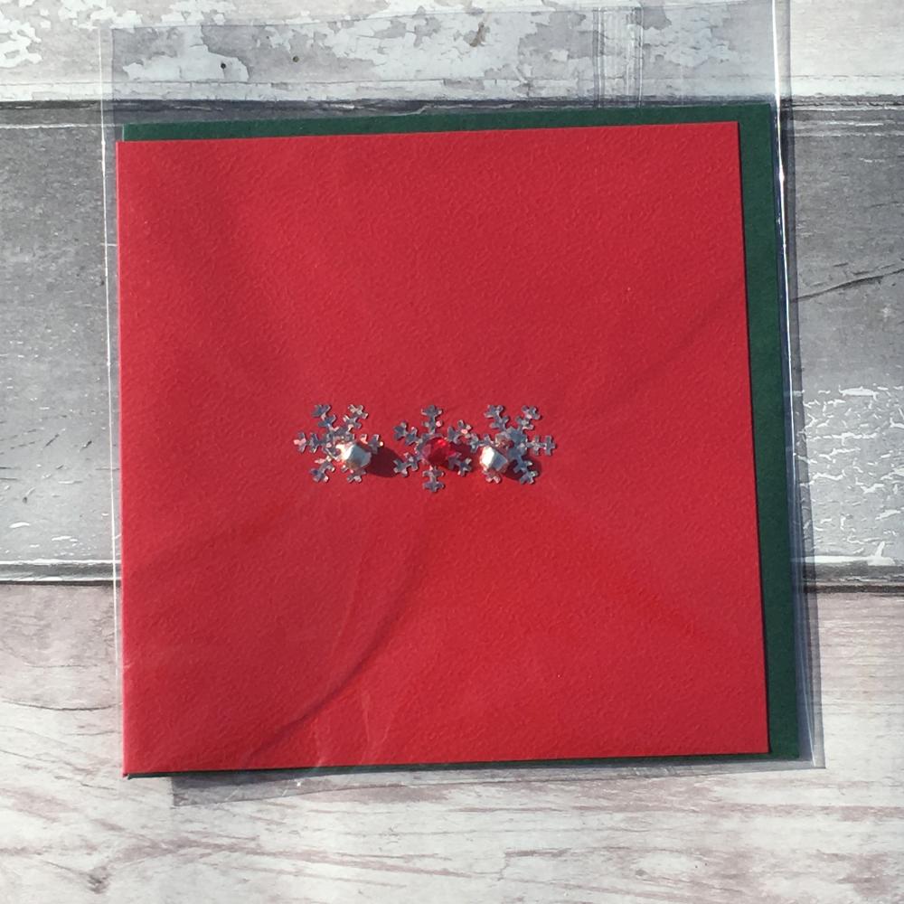 Snowflake handmade Christmas card