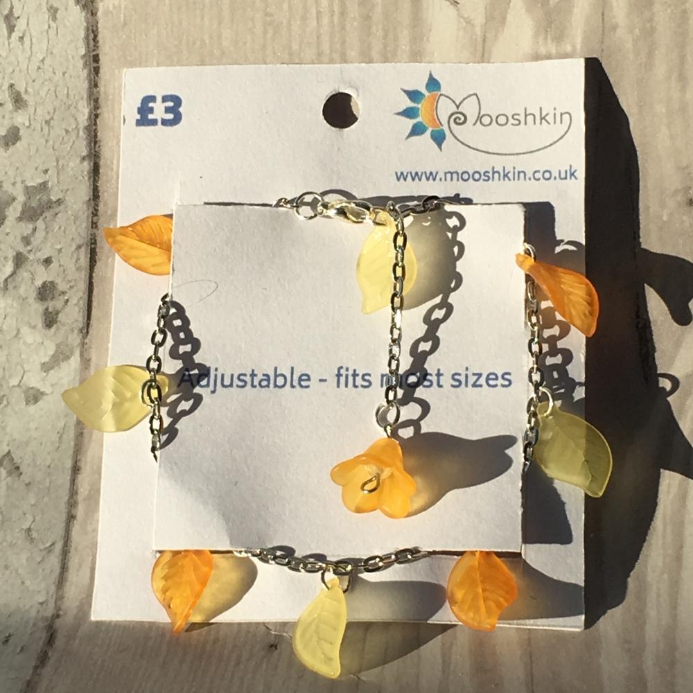 'zesty bestie' leaf bracelet