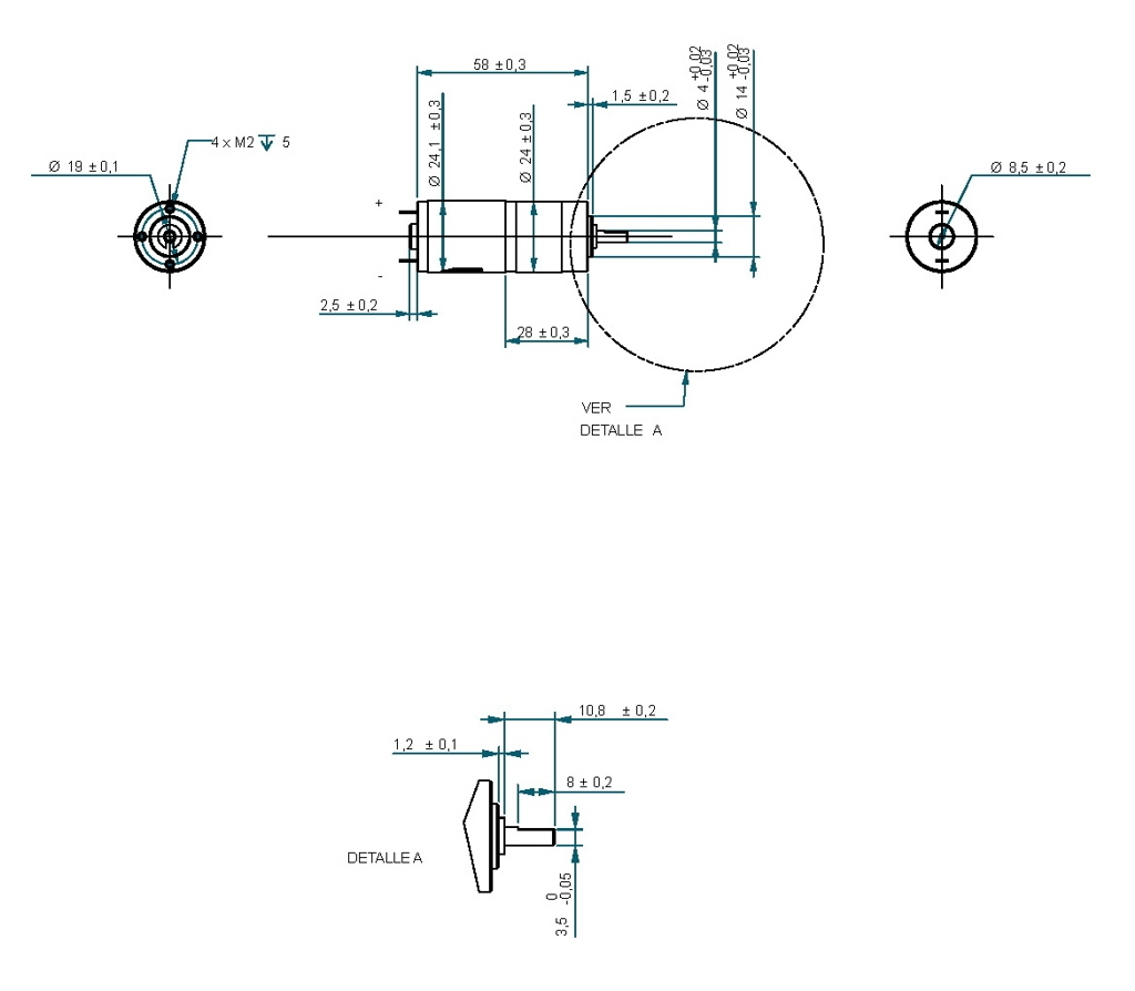 Gear Motor Dc 24v 305rpm Ref 24