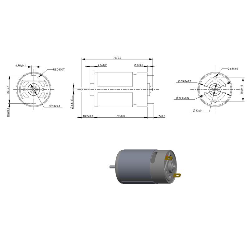 Motor Current Dc Voltage 12 00v R P M Rpm