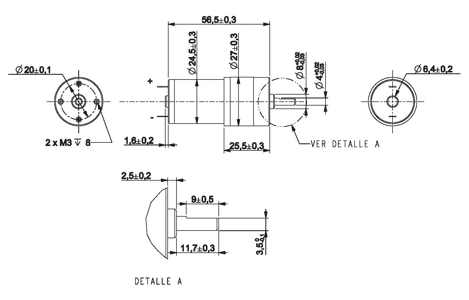 Motorreductor Dc 6v 55rpm Ref 6