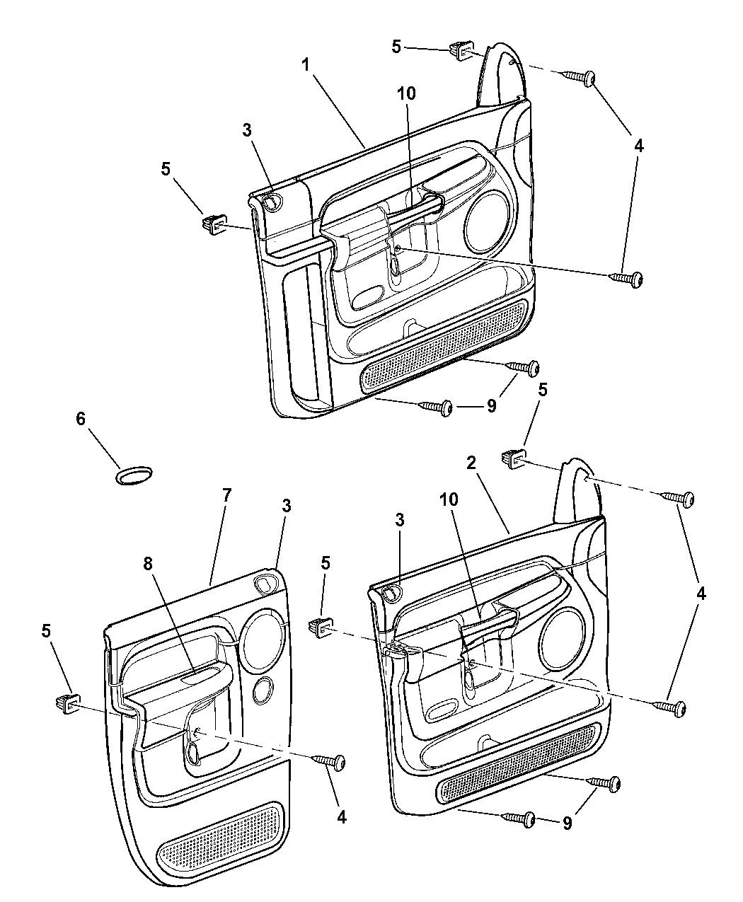 Dodge Ram Door Trim Panel