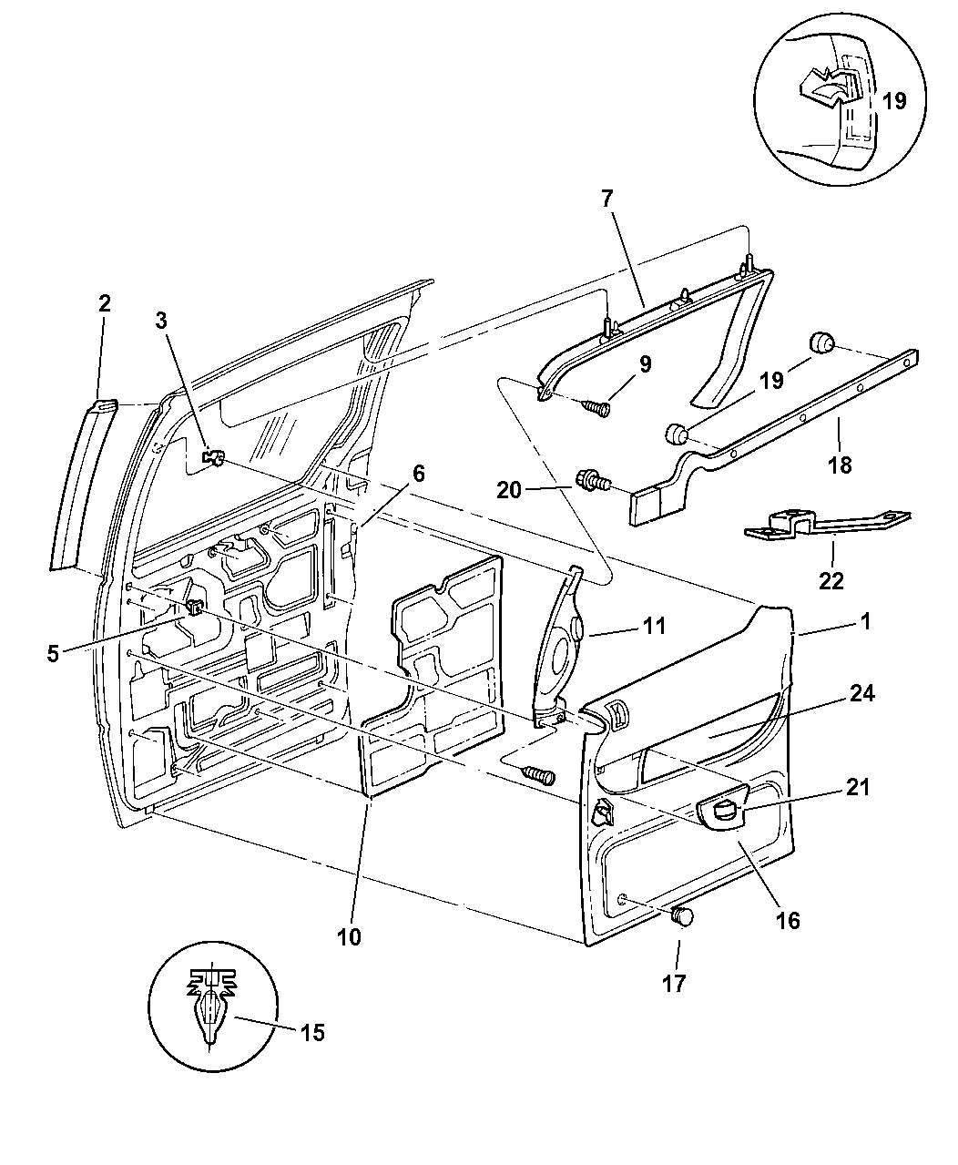 Chrysler Concorde Driver Door Latch Repair Diagram