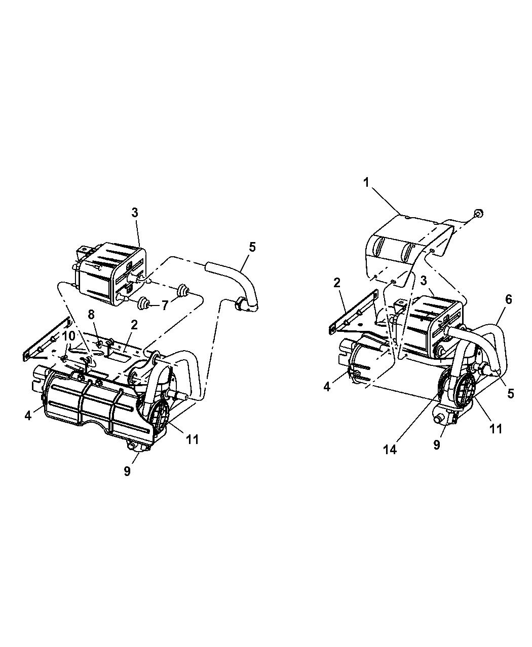 Dodge Ram Vacuum Canister Amp Leak Detection Pump