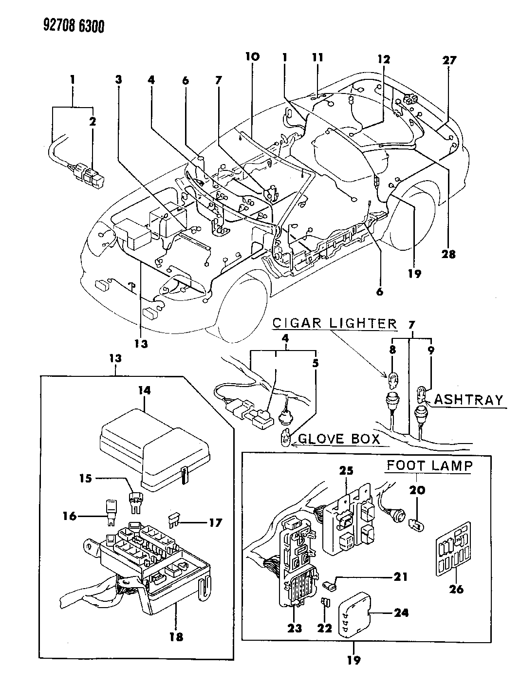 Dodge Stealth Wiring Harness