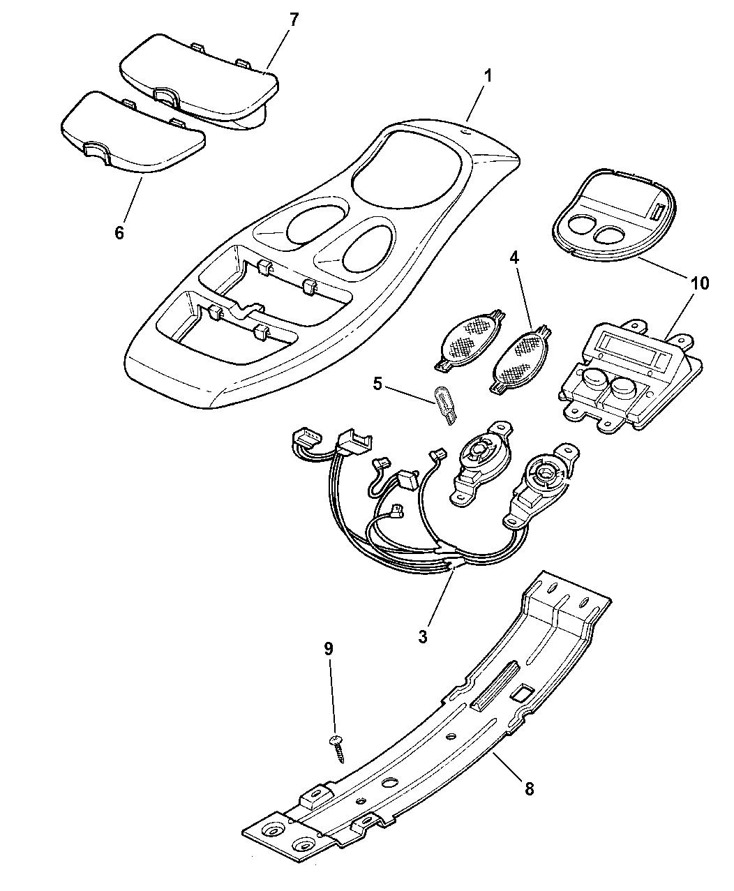 Dodge Dakota Overhead Console