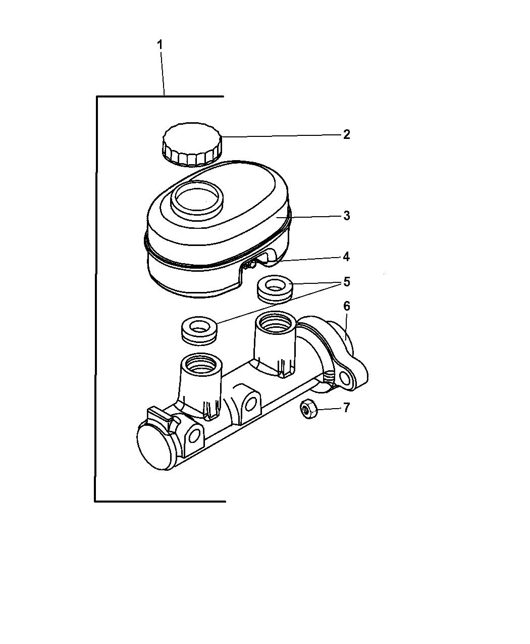 Dodge Ram Van Master Cylinder
