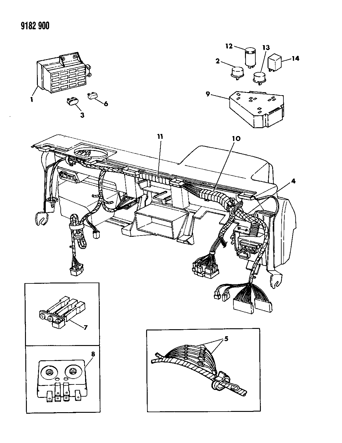 Dodge Shadow Instrument Panel Wiring