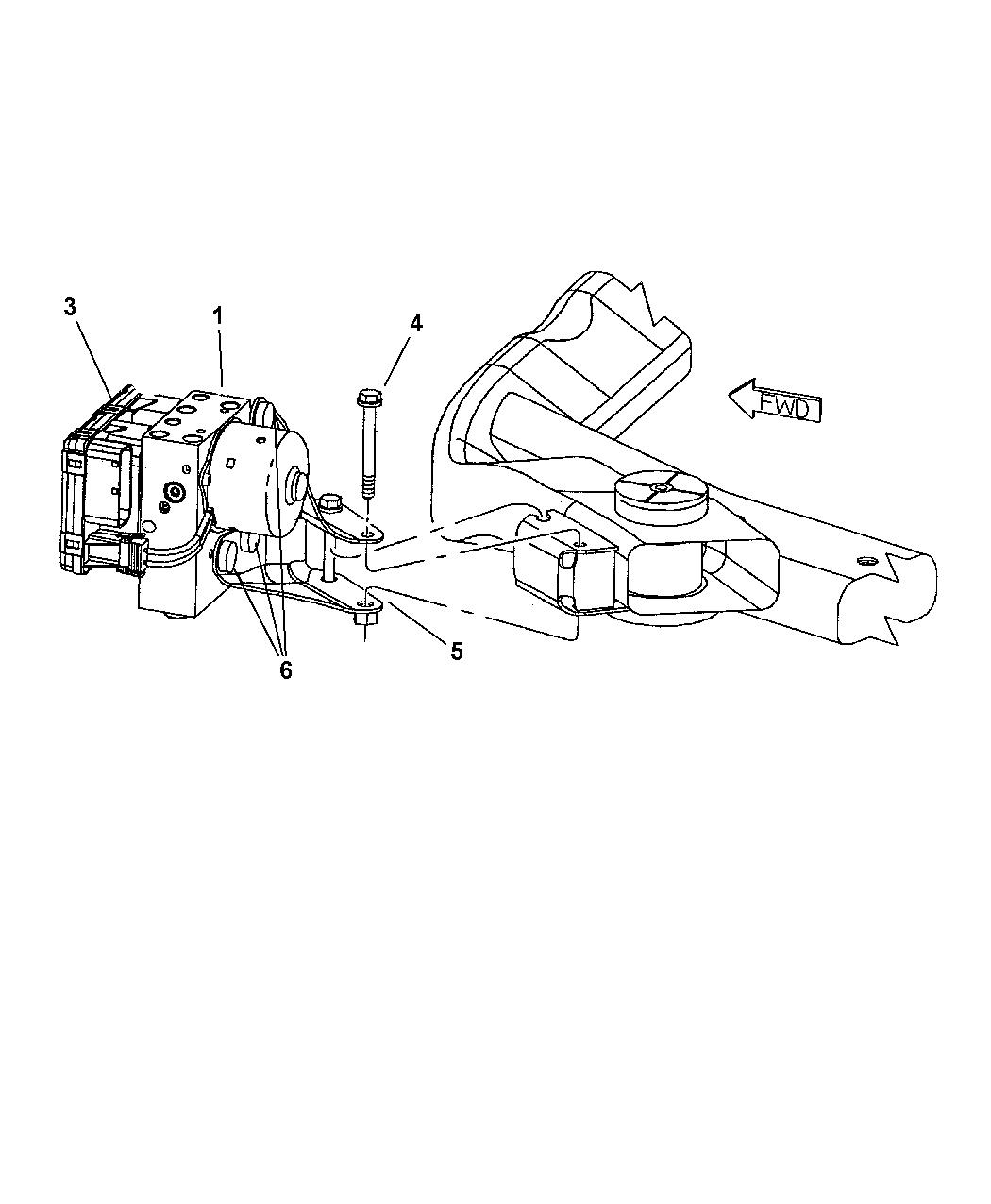 Dodge Intrepid Hydraulic Control Unit Anti Lock Brakes