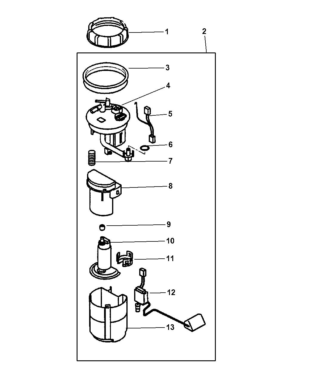 Dodge Stratus Coupe Fuel Pump Amp Sending Unit