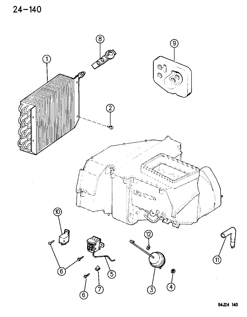 Jeep Cherokee Core Evaporator