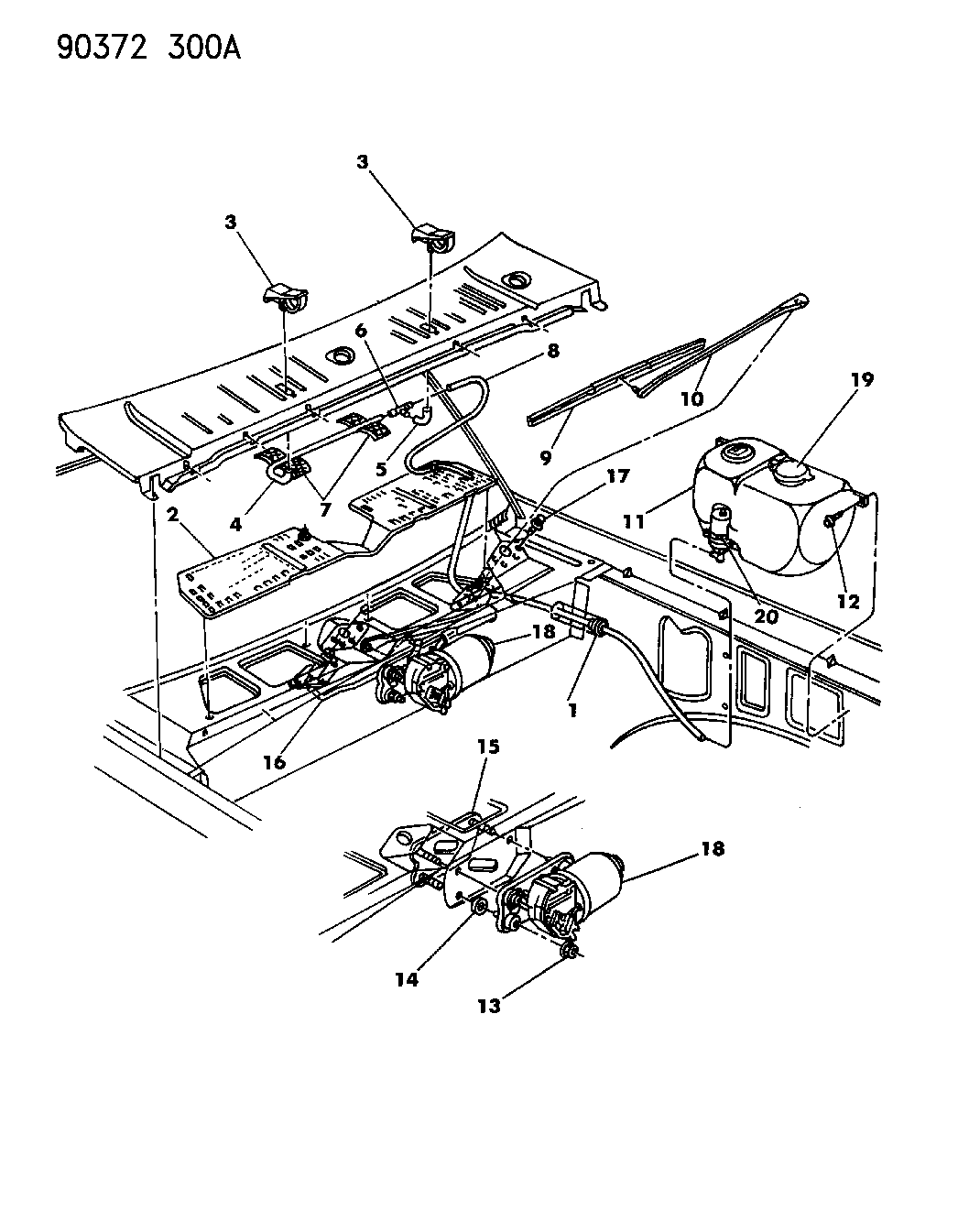 Dodge Dakota Windshield Wiper Amp Washer System