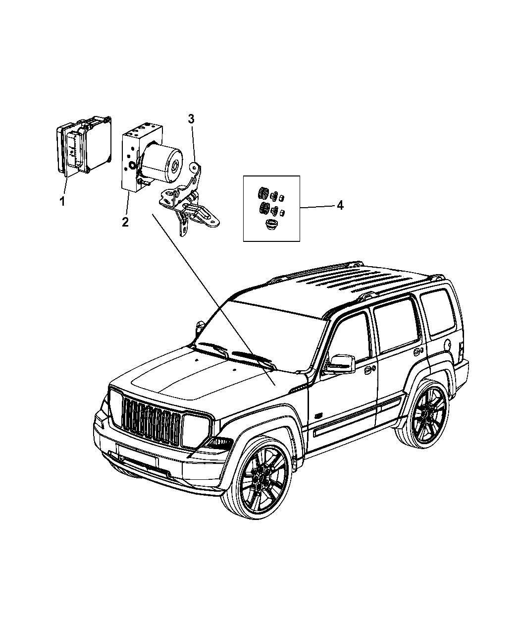 Jeep Liberty Modules Brakes Suspension And Steering