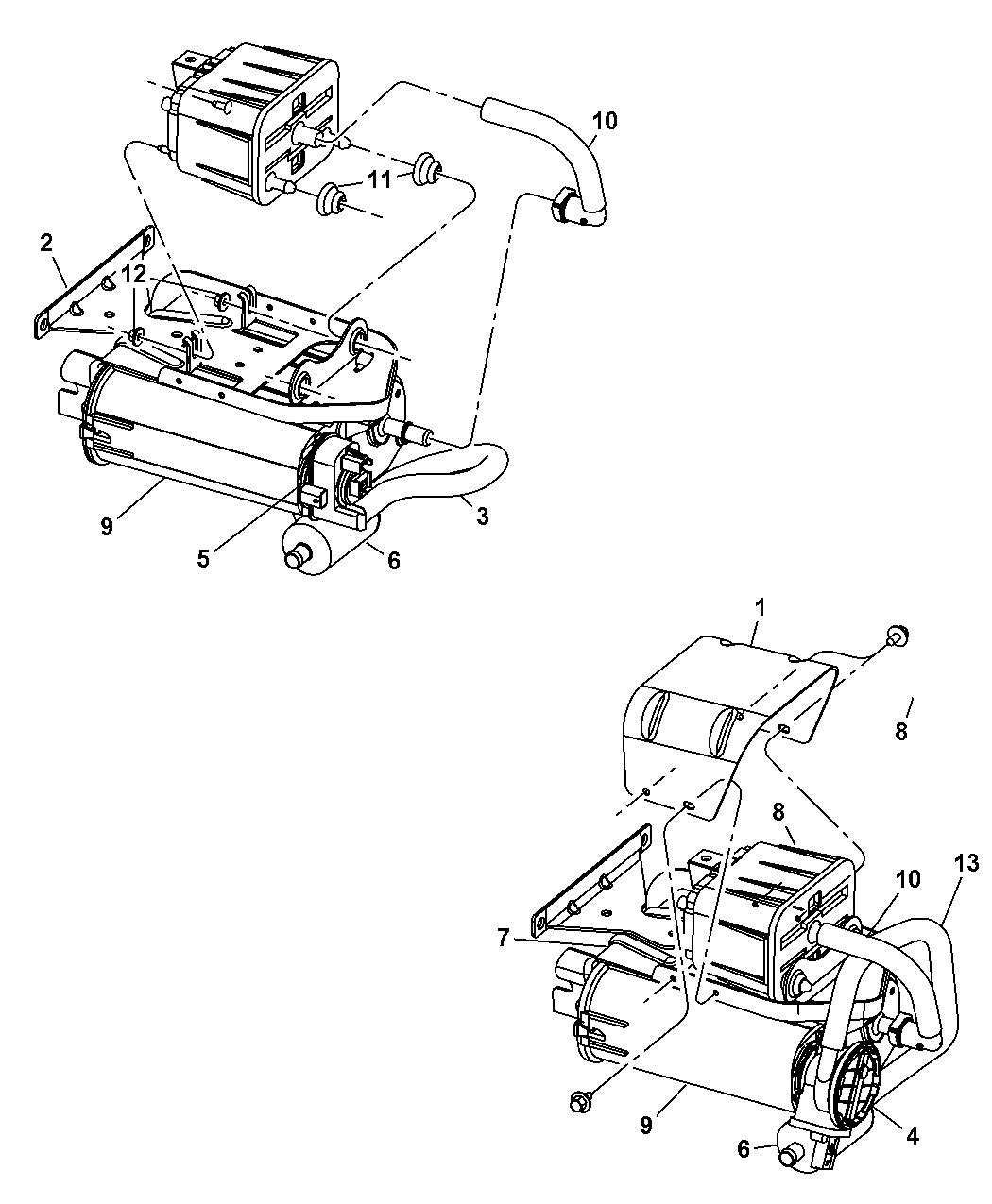Dodge Ram Vapor Canister Amp Leak Detection Pump