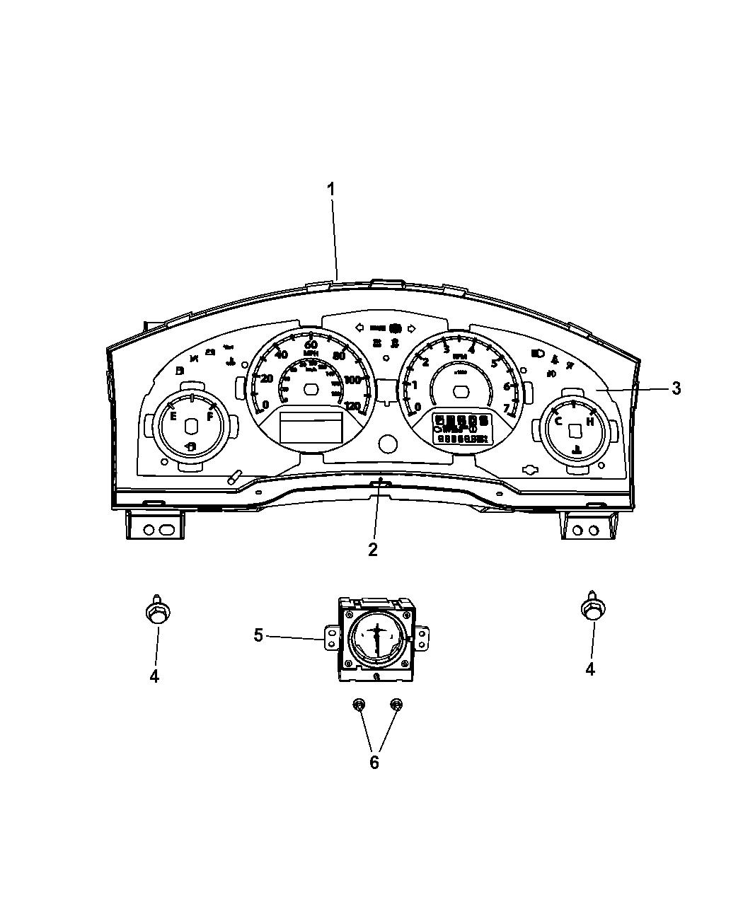 Dodge Grand Caravan Instrument Panel Cluster