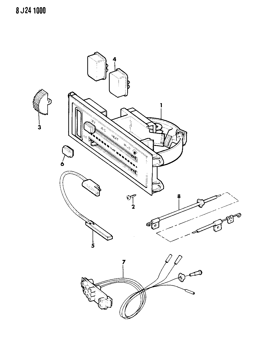 Jeep J20 Controls Heater And Air Conditioning
