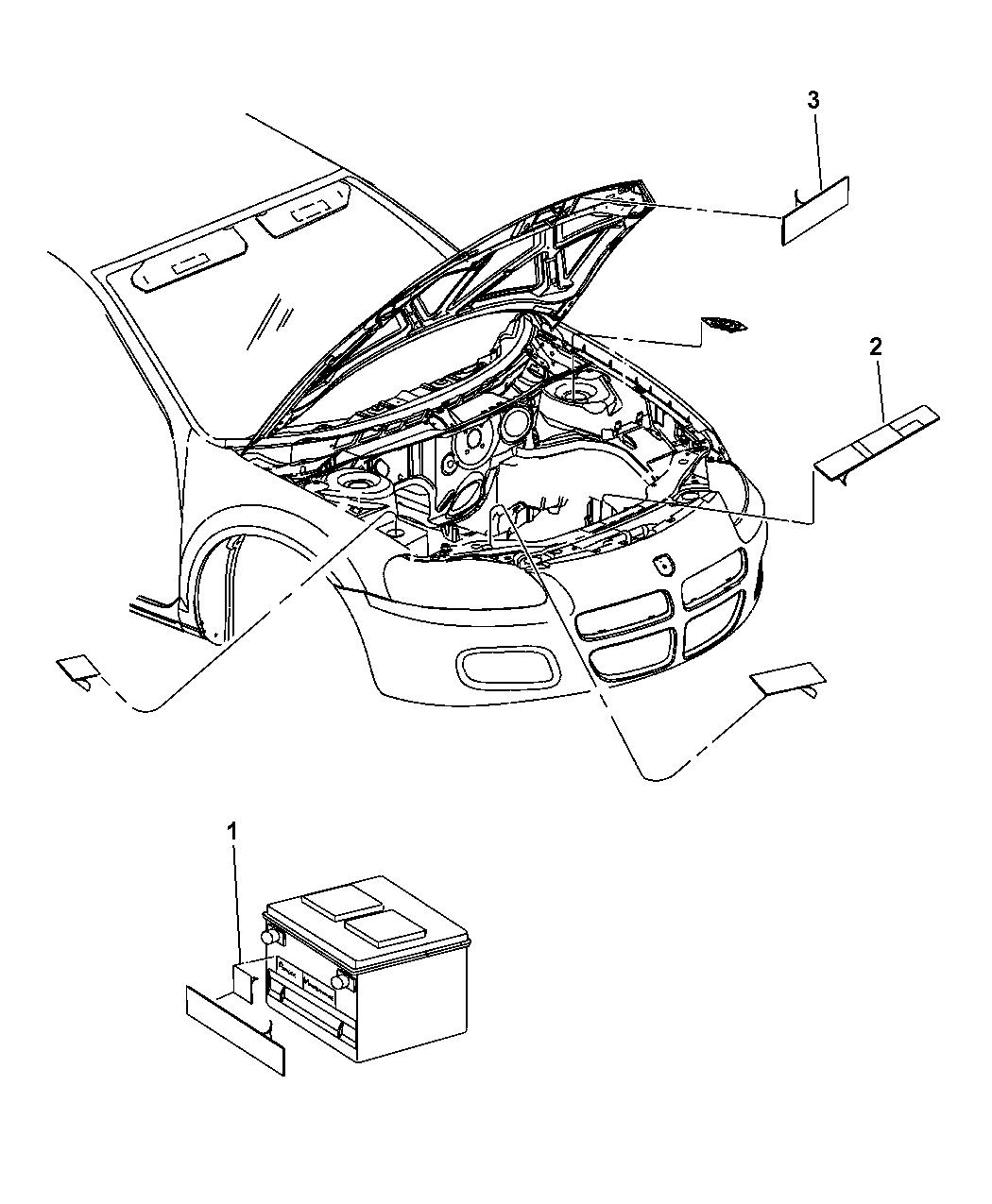 Chrysler Sebring Engine Compartment