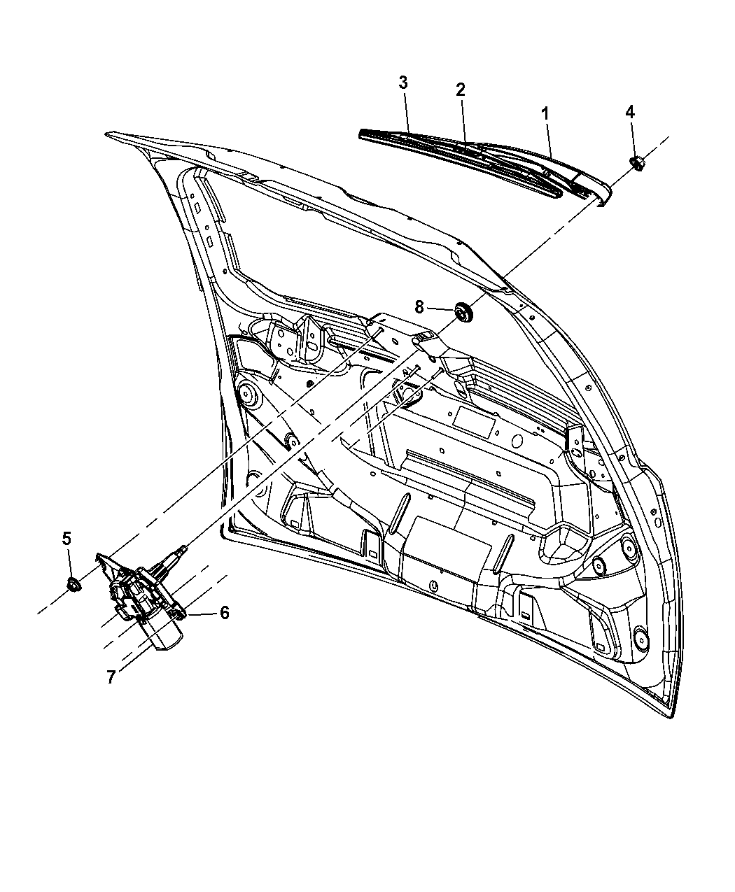 Chrysler Town Amp Country Wiper System Rear