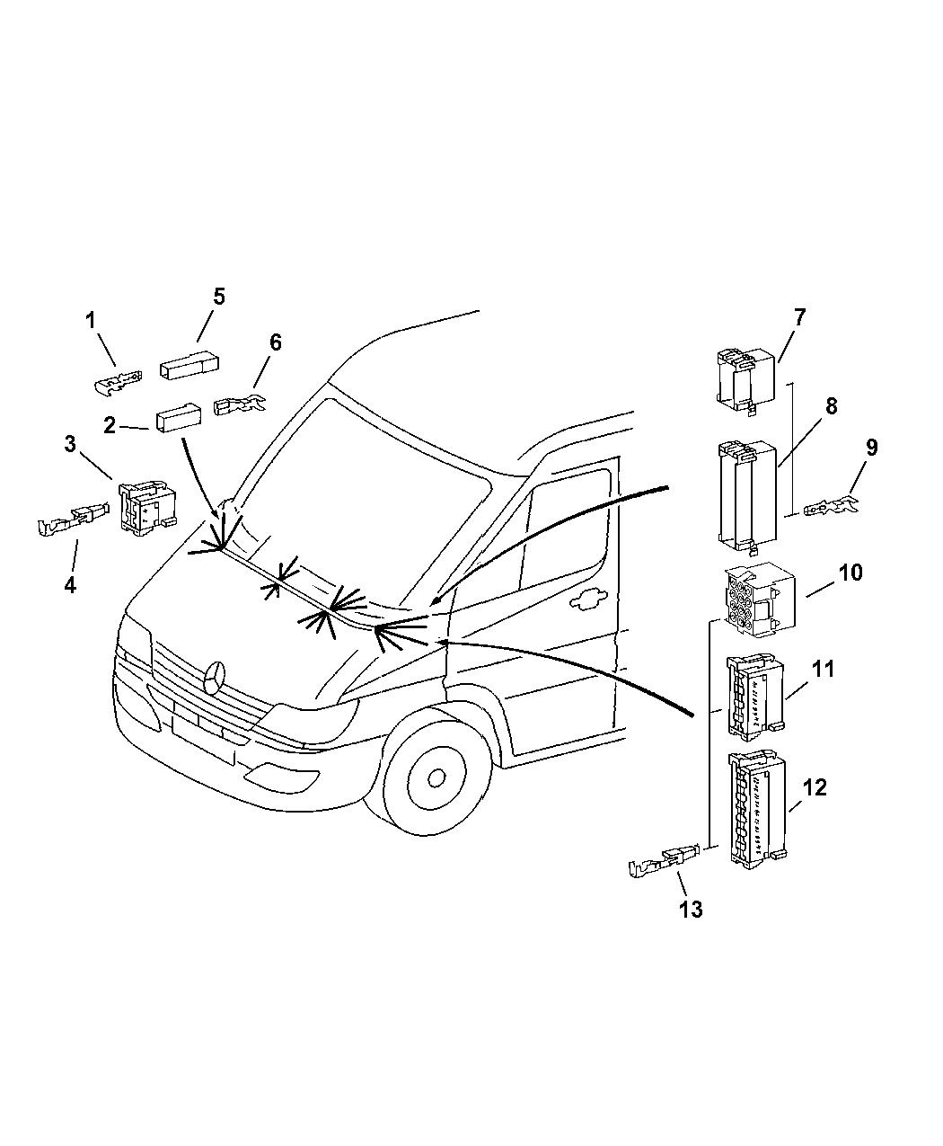 Dodge Sprinter Connectors Engine Compartment