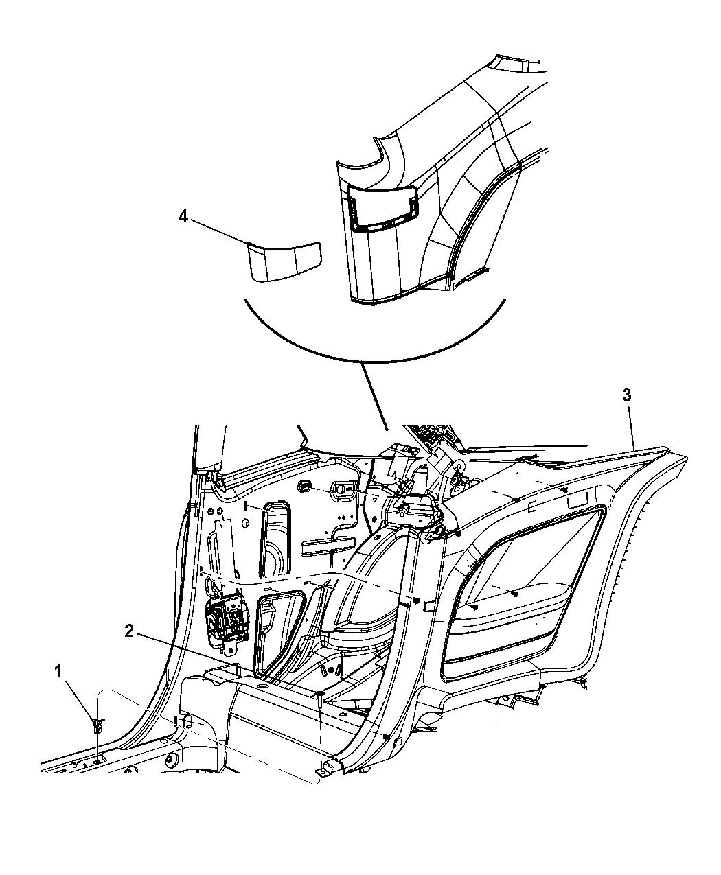 Dodge Challenger Quarter Trim Panel