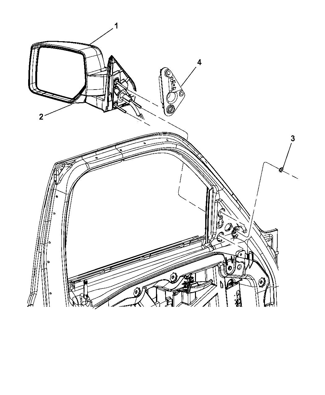 Jeep Liberty Mirrors Exterior