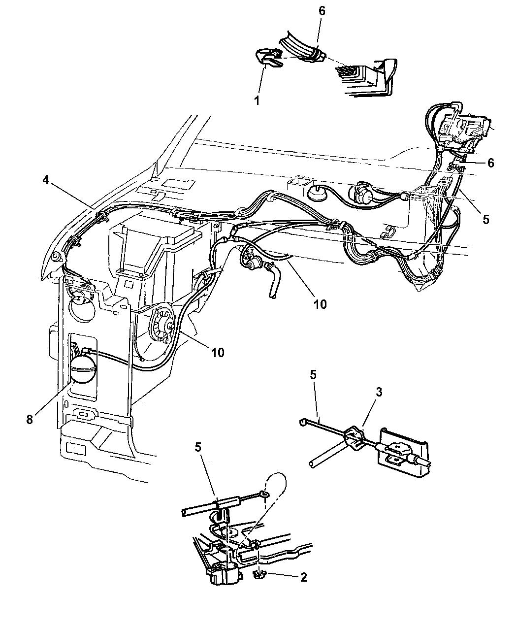 Dodge Ram Van Vacuum Lines