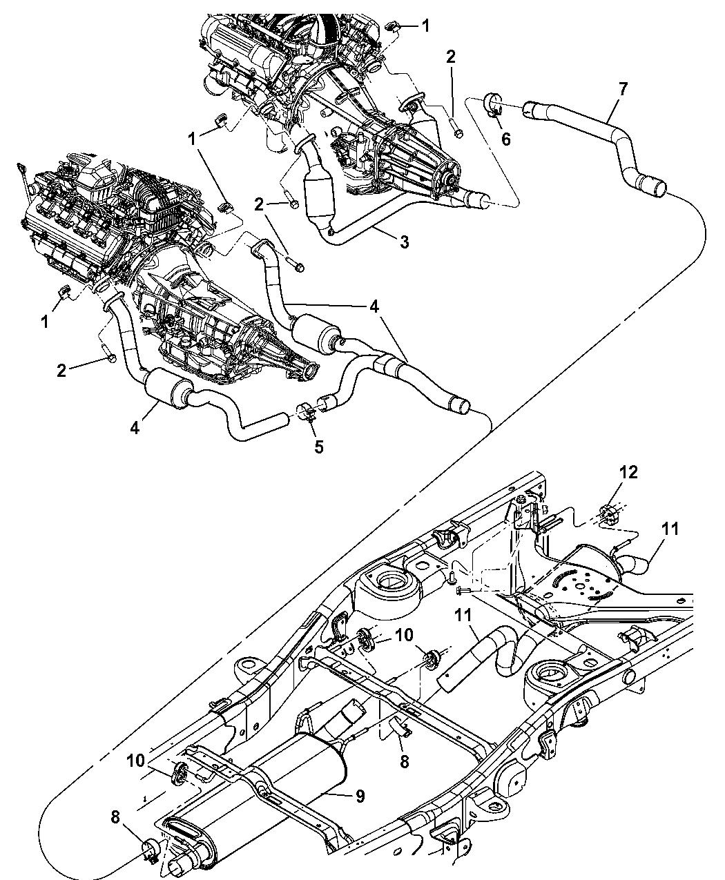 Dodge Durango Exhaust System