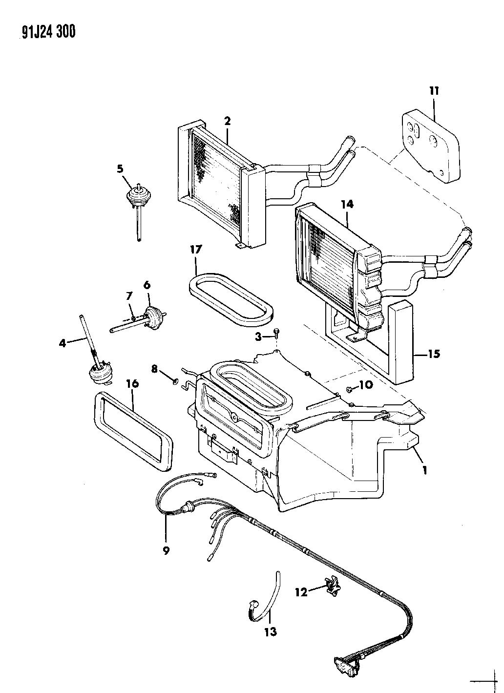 Jeep Cherokee Housing Amp Core Heater