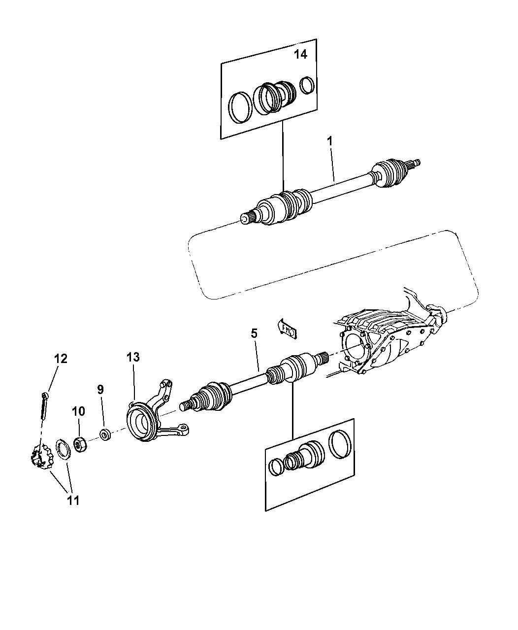 Dodge Stratus Shaft