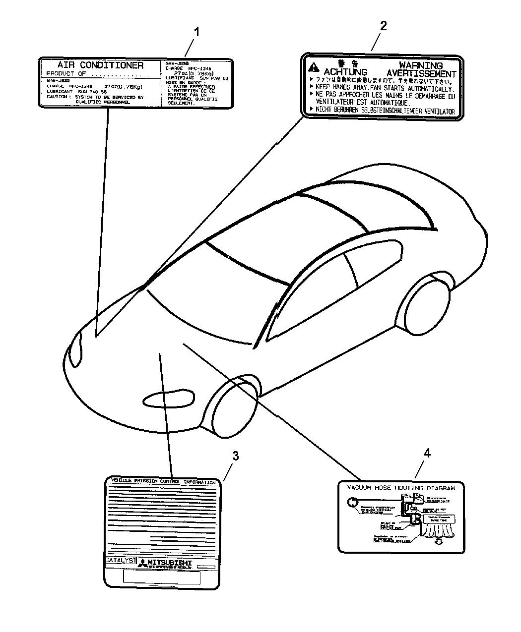 Dodge Stratus Coupe Engine Compartment