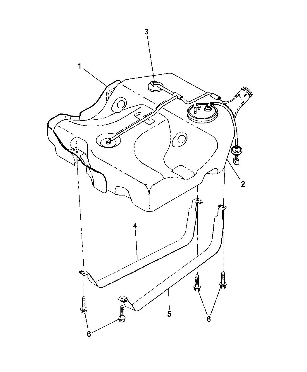 Dodge Stratus Sedan Fuel Tank