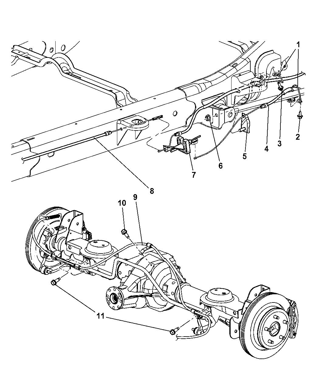 Dodge Durango Parking Brake Cable