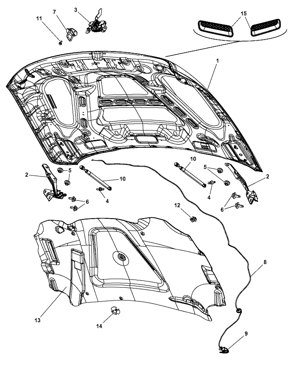 Dodge Ram Hood Amp Related Parts