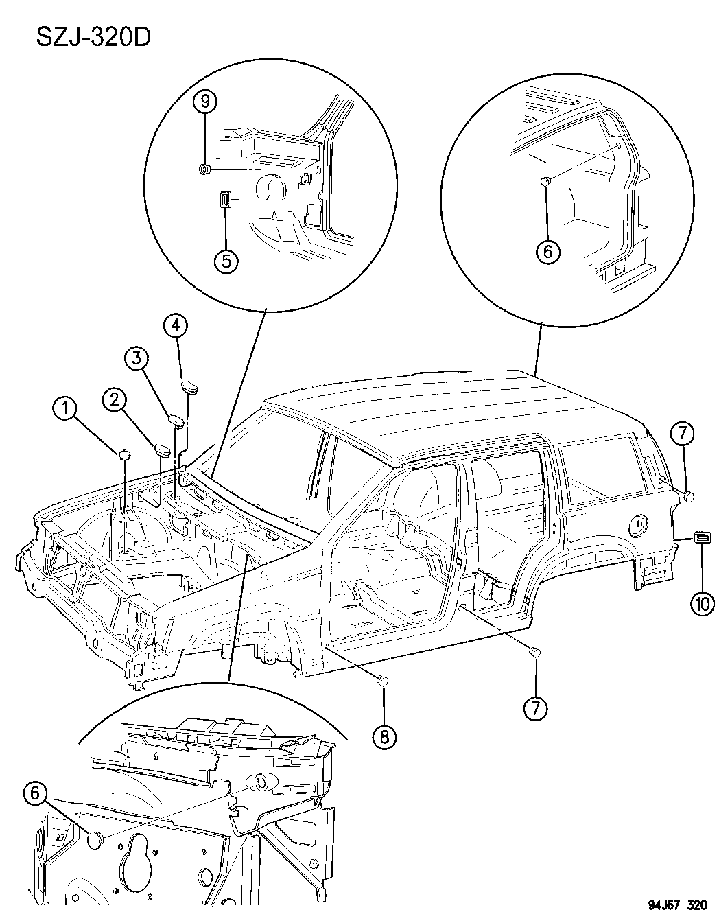 Jeep Grand Cherokee Plugs Body