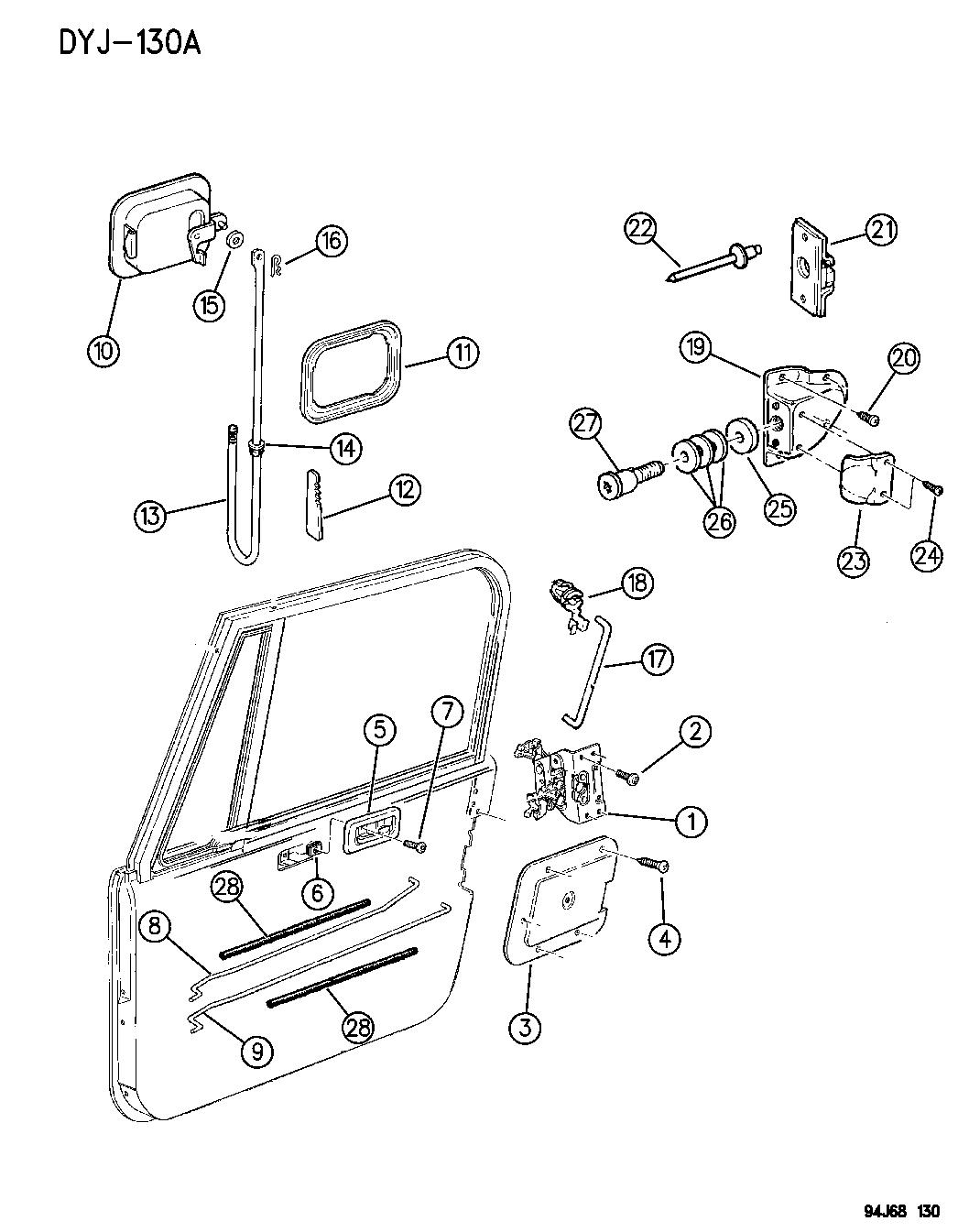 Jeep Wrangler Door Front Full Lock And Controls