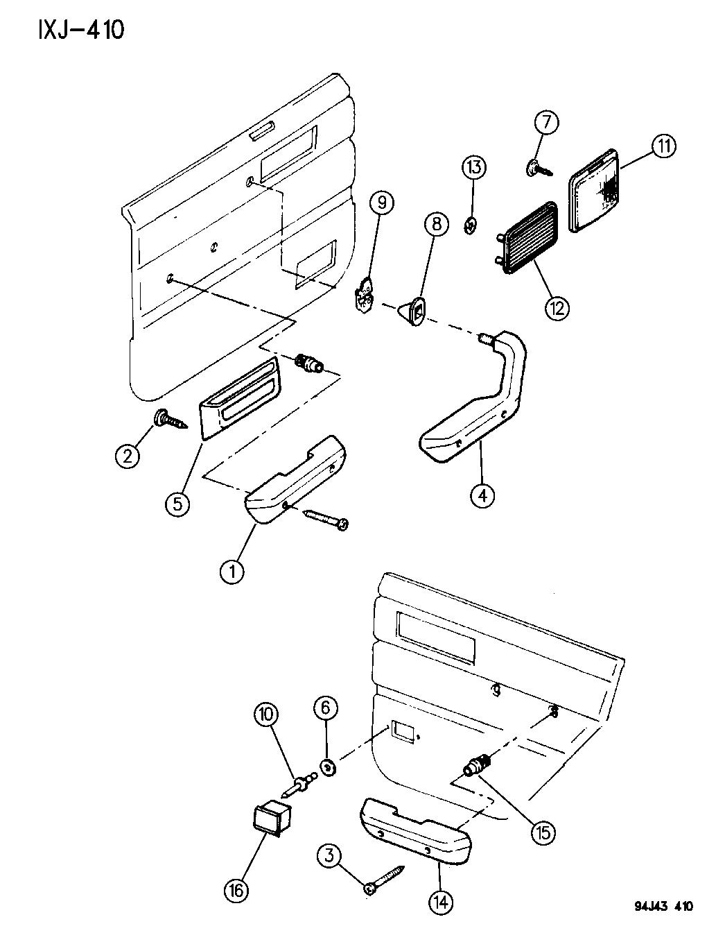 Jeep Cherokee Interior Trim Parts