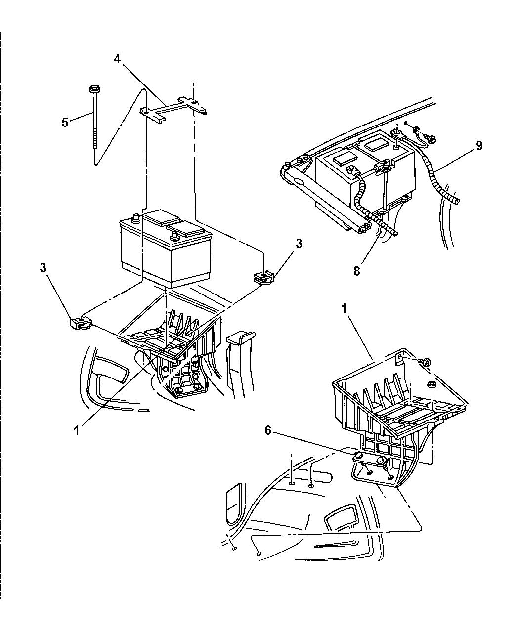 Dodge Ram Quad Amp Club Cab Battery Tray Amp Cables