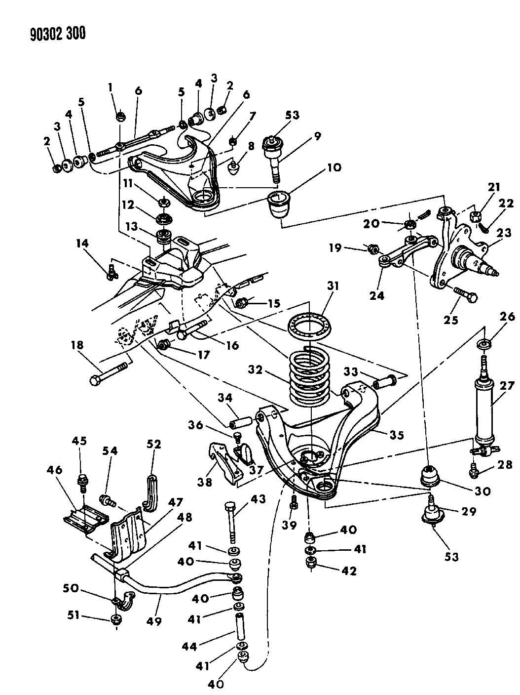 Chrysler Aspen Nut Mounting Upper Control Arm Hex