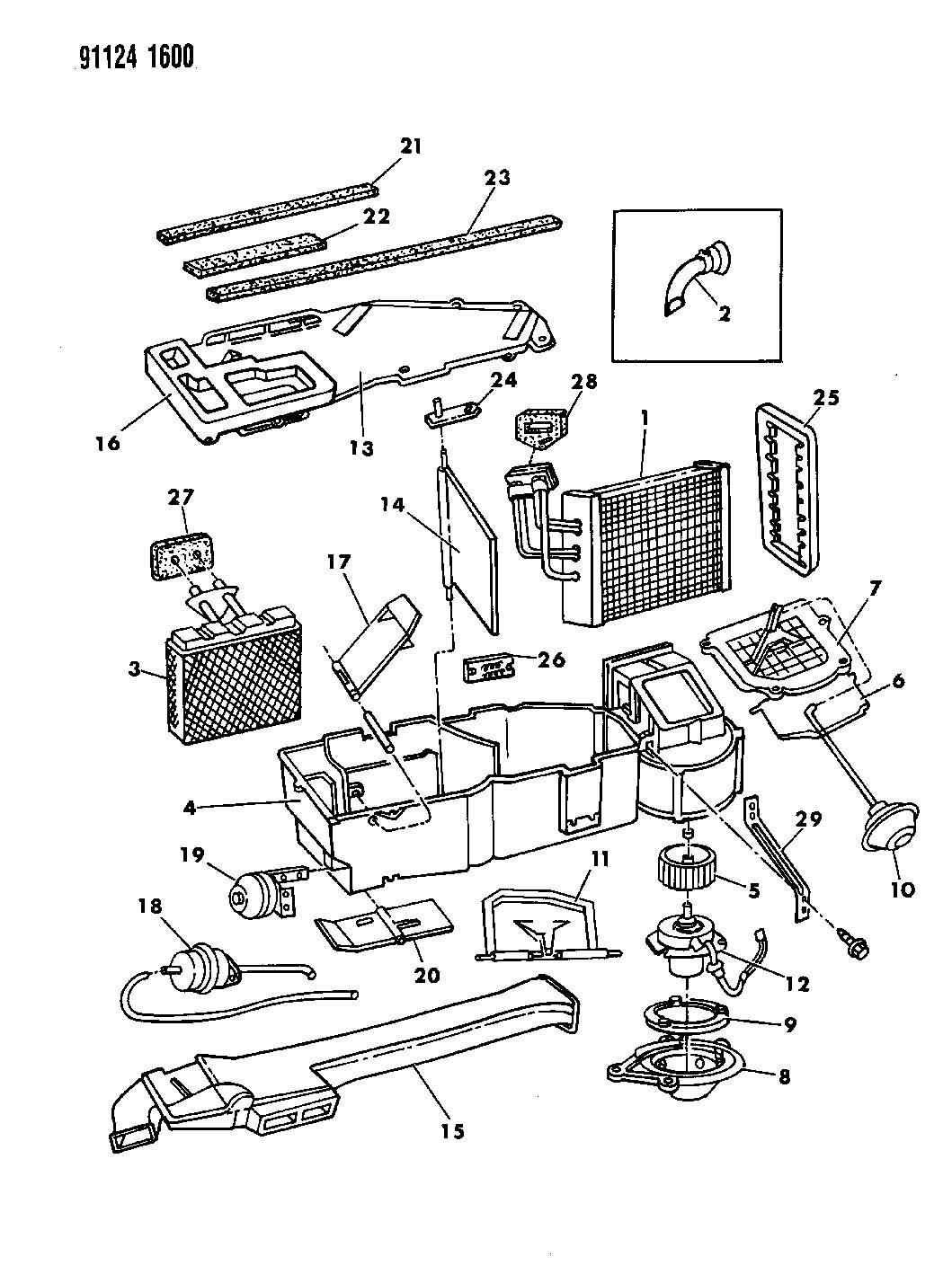 Jeep Wrangler Tube Drain Evaporator Tube A C Unit