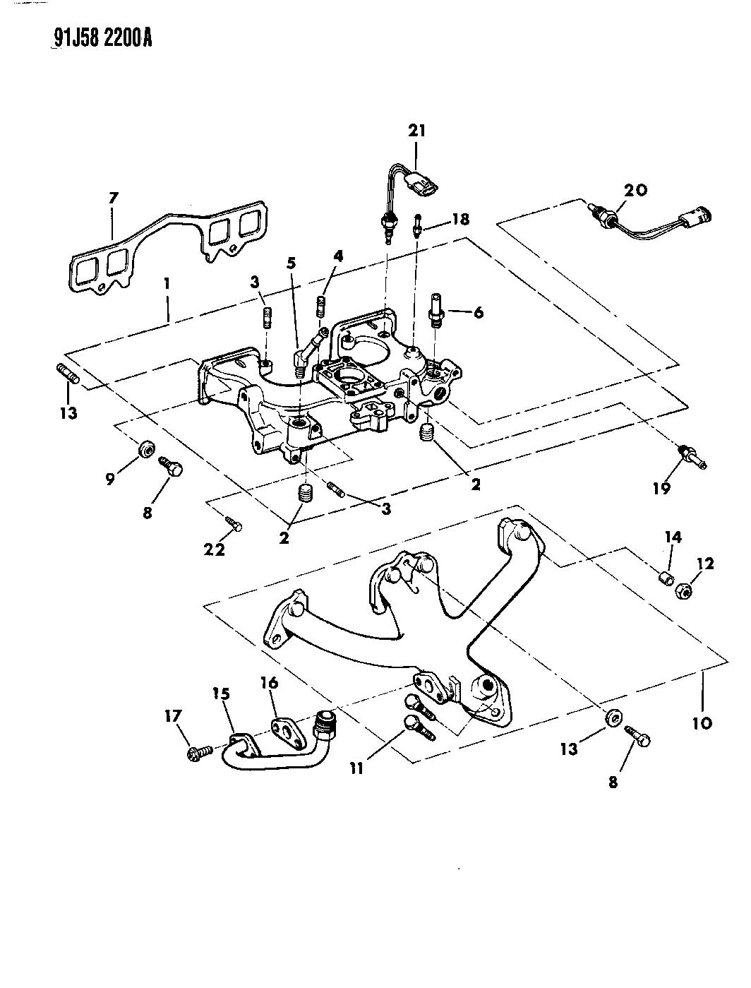 Dodge Cirrus Sensor Air Charge Temperature Air