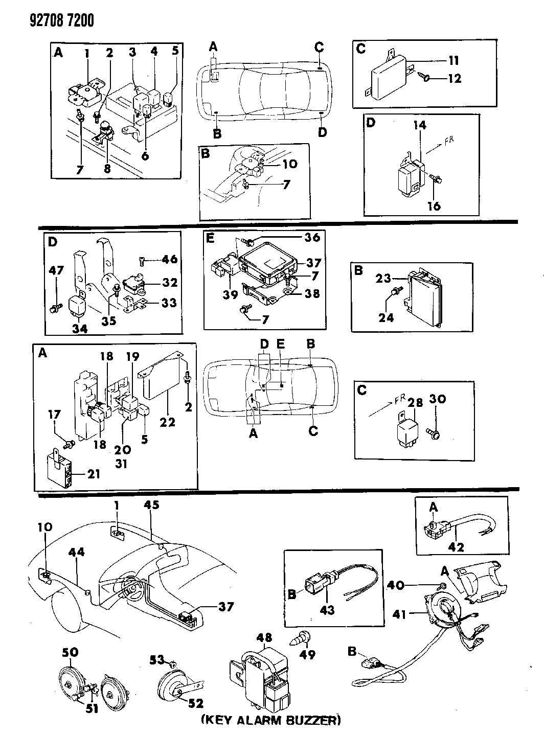 Dodge Stealth Buzzer Elec Buzzer Electric Horn