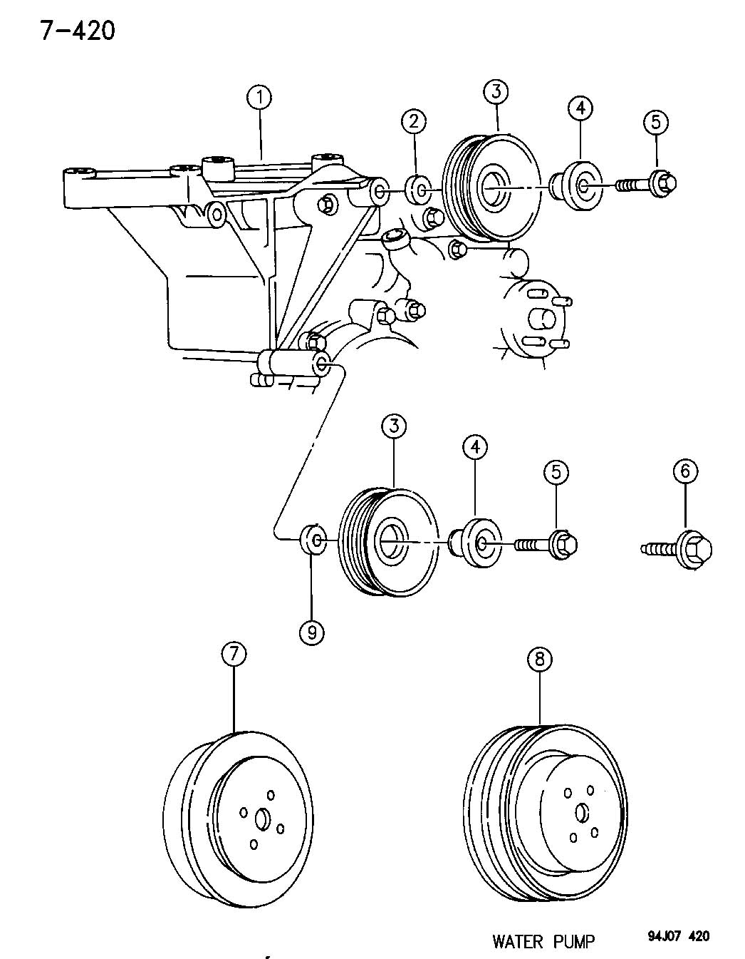 Jeep Wrangler Pulley Pulley Assembly Idler Pulley